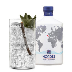 En Monte Gozo puedes contemplar Santiago de Compostela mientras sientes un gresor liberador y gracias a este gin-tonic puedes recrearlo.