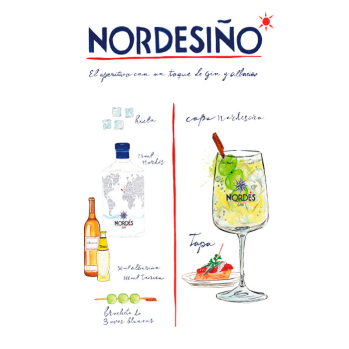 The recipe for Nordesiño by the illustrator Saray Luis Martin