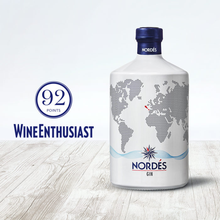 Nordés, the only Spanish gin selected in Wine Enthusiast's Top 100 Spirits Ranking